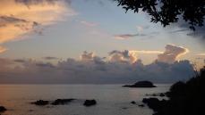 Il mare di Illicini al tramonto