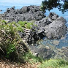 una delle discese a mare a punta Spinelli