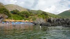 La spiaggetta Illicini vista dalla punta Spinelli